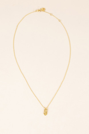 Collier médaille rectangulaire Sessun